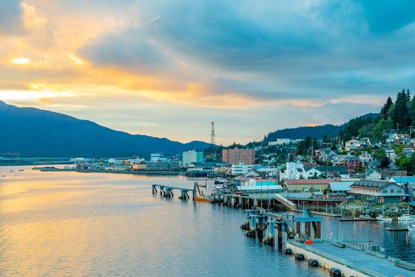 bigstock-Sunset-From-The-Coast-In-Ketchikan-Alaska
