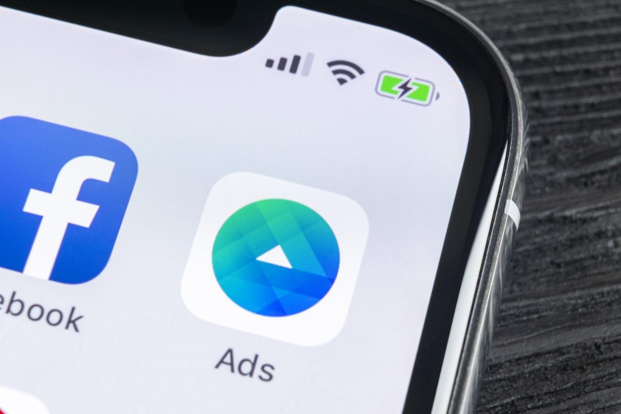 Facebook Ads app on smartphone