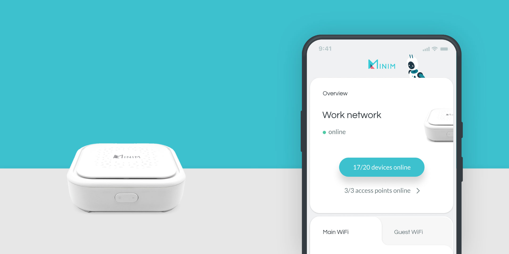 Minim router and mobile app
