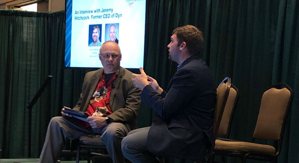 Jeremy Hitchcock and Steve Goeringer speaking at the CableLabs Summer Conference 2019