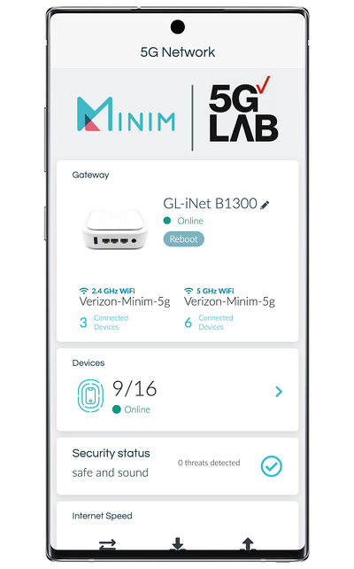 Minim mobile app: Network overview