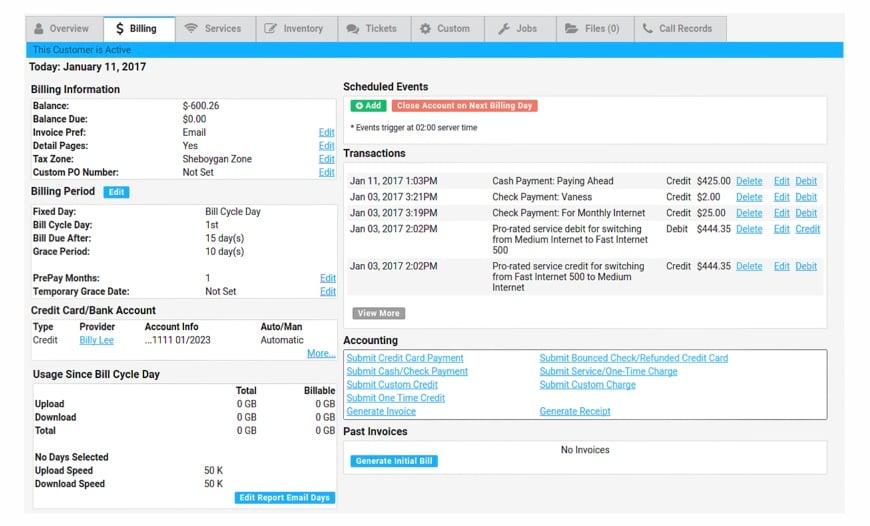 powercode-customer-billing-screenshot