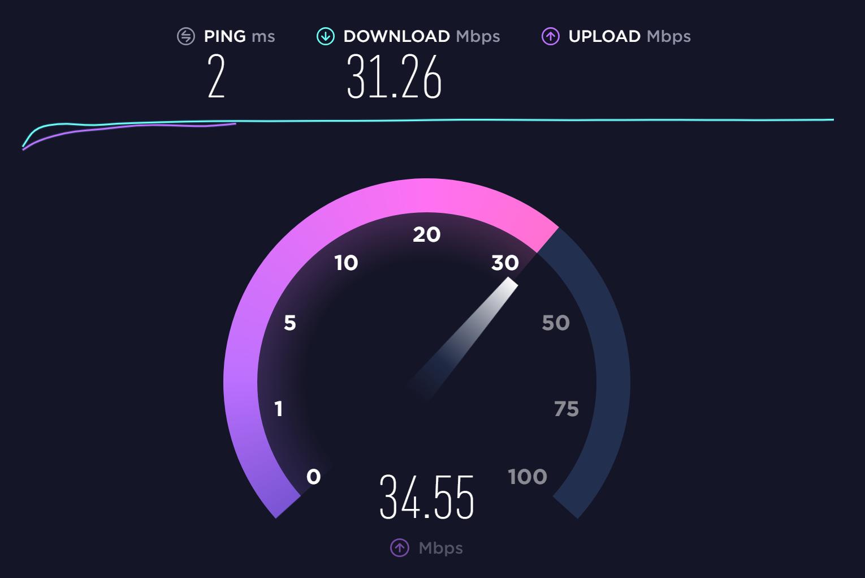screenshot-speedtest-result