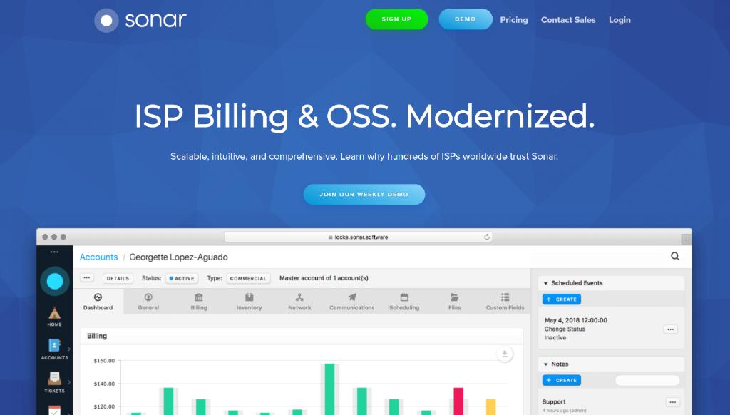 Sonar, a WISP billing system
