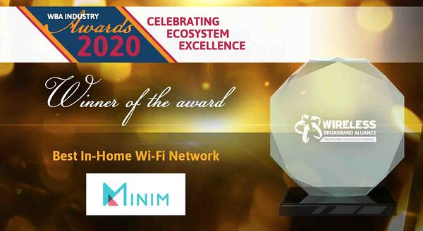 WBA awards - winner of Best In-Home WiFi Network