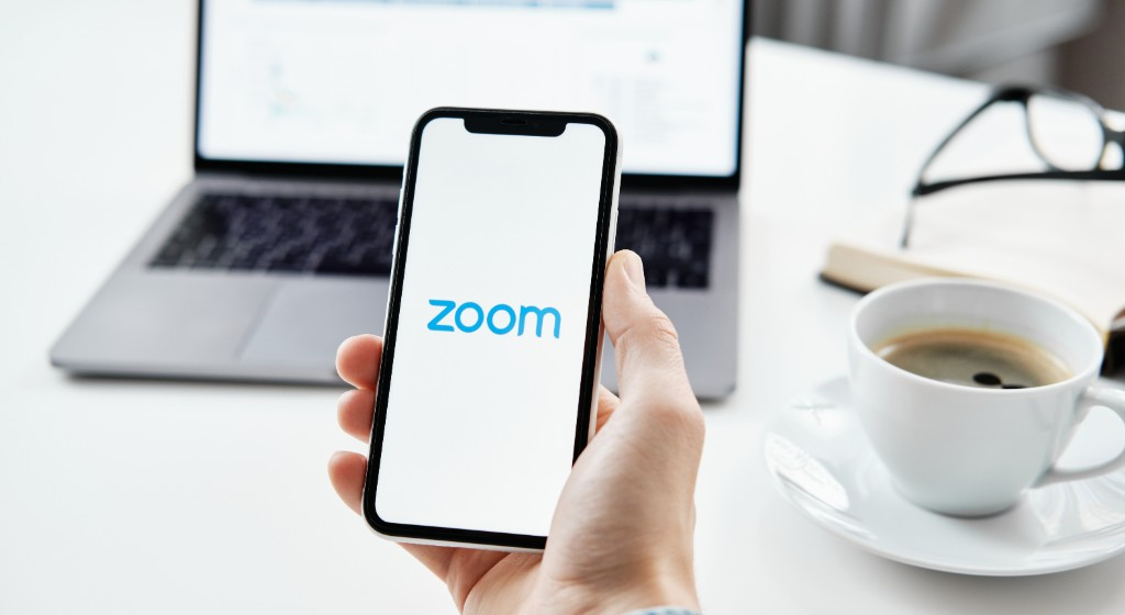 Joining a Zoom video meeting from mobile phone