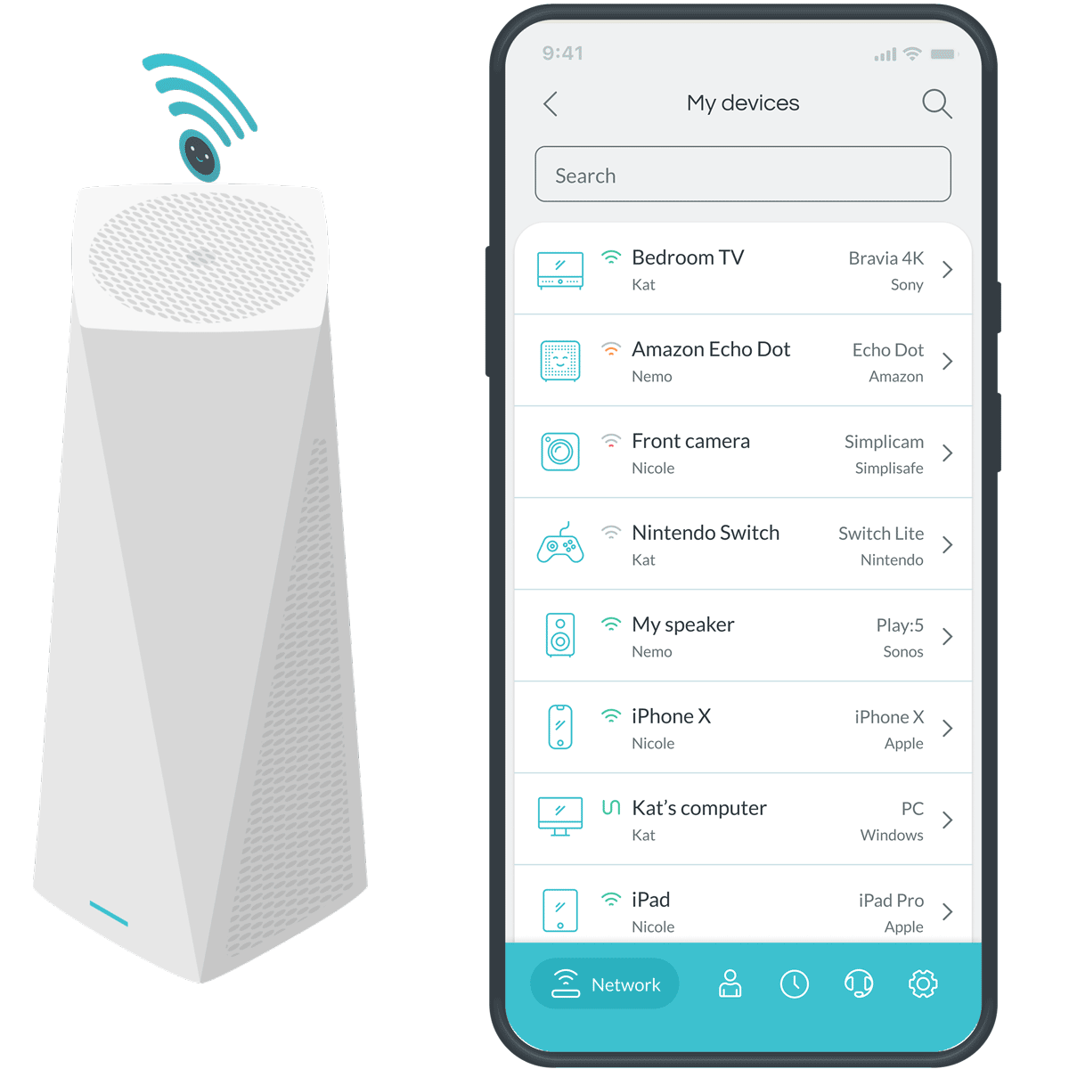 Minim Mobile App - Device list