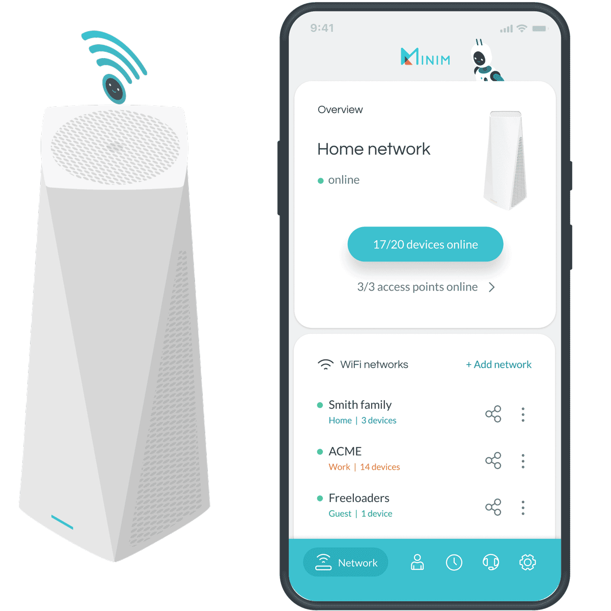 Minim Mobile App - Home